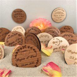 magnets bois personnalisables ensemble