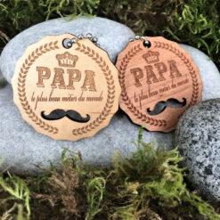 porte clés papa moustache ensemble
