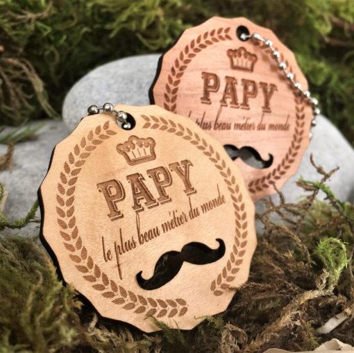 porte clés papy moustache ensemble