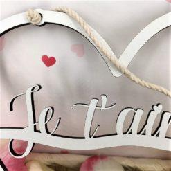 décoration murale coeur déco je t'aime gros plan