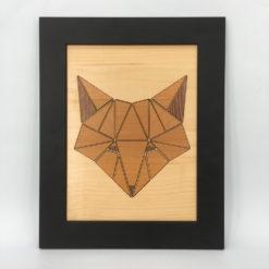 tableau animaux géométrik renard érable