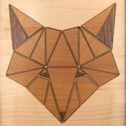 tableau animaux géométrik renard érable gros plan