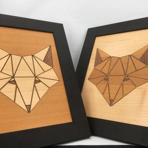 tableau animaux géométrik renard vue d'ensemble