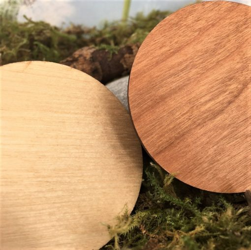 magnets bois 100% personnalisables gros plan