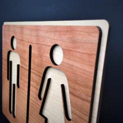 plaque de porte bois la classique gros plan