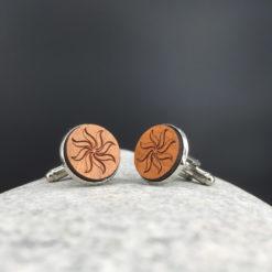 bouton de manchette personnalisé cerisier soleil