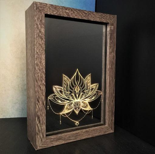box led lotus éclairée