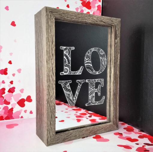 box led love