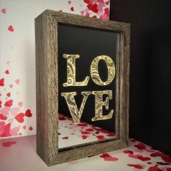 box led love éclairée