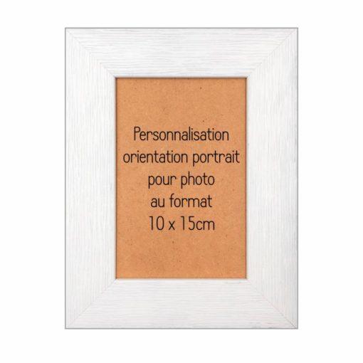 cadre bois personnalisable 10x15 portrait