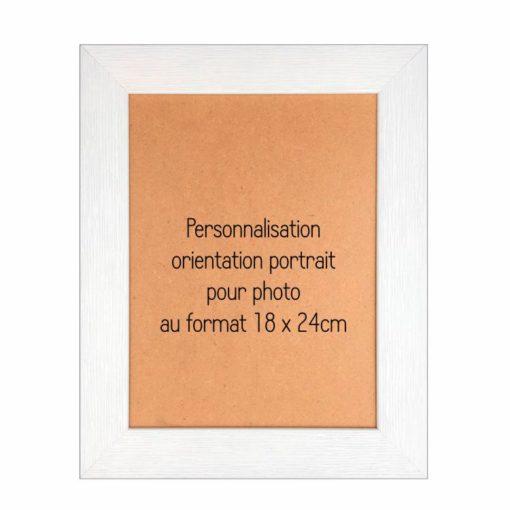 cadre bois personnalisable 18x24 portrait