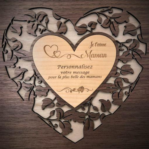 coffret bois maman d'amour exemple de personnalisation