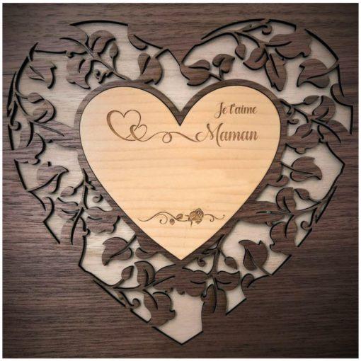 coffret bois maman d'amour personnalisable