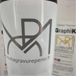 gobelet graphik blanc avec gravure laser personnalisée