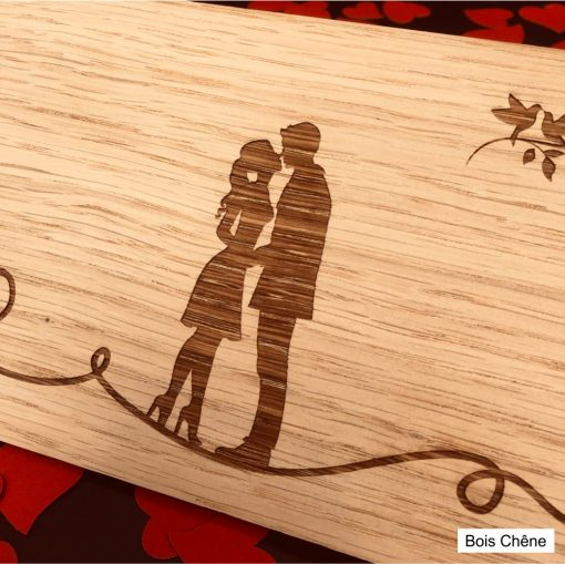 carte postale bois chêne