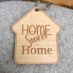 porte clés home sweet home érable