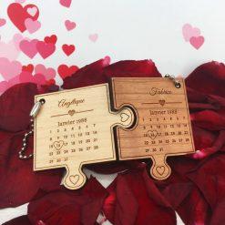porte clés le st valentin cerisier + érable