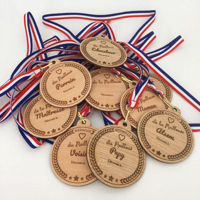 Médaille bois personnalisable