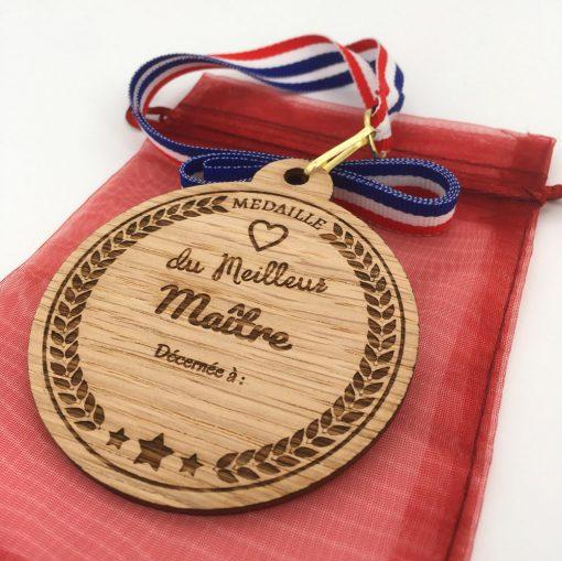 médaille bois meilleur maître chêne