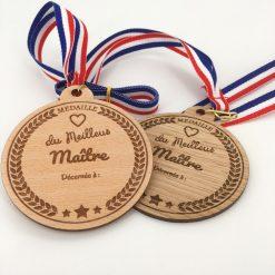 médaille bois meilleur maître ensemble
