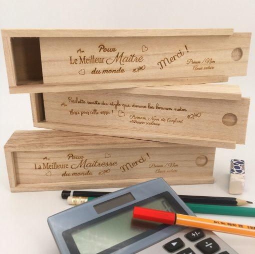 plumier bois modèles personnalisables