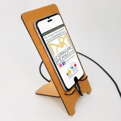 support téléphone personnalisable cèdre