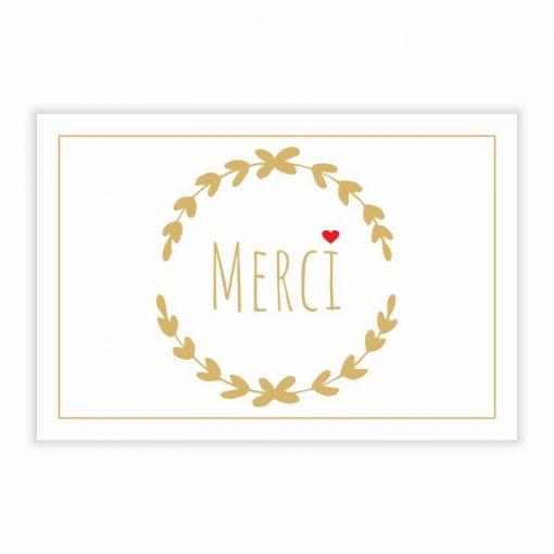 carte message merci