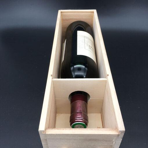coffret bois bouteille - vin intérieur 2