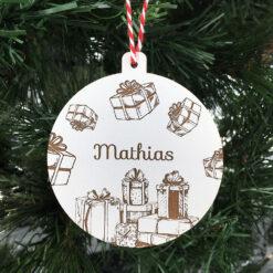 décoration de noël cadeaux médium