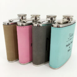 flasque personnalisable cuir ensemble profil