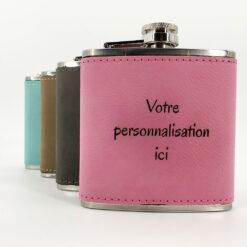 flasque personnalisable cuir ensemble