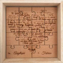 puzzle bois des amoureux en hêtre
