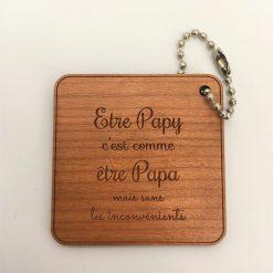 Porte-clés être papy cerisier
