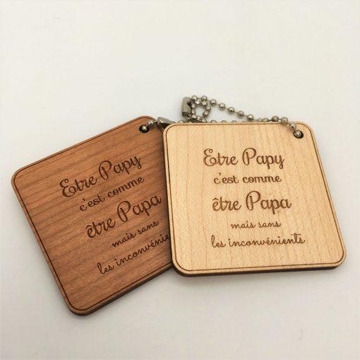 Porte-clés être papy ensemble