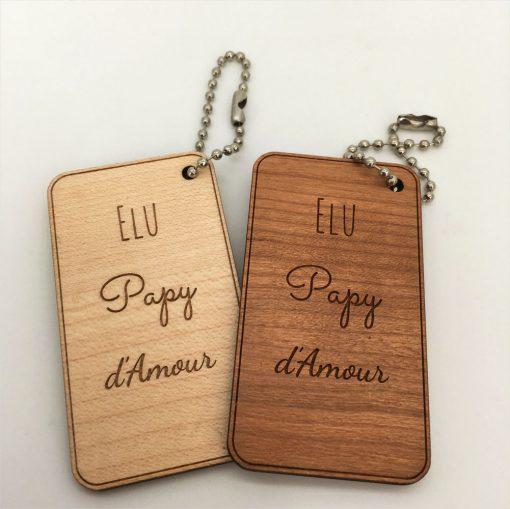porte-clés papy d'amour ensemble