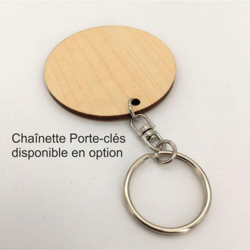 chainette porte clés métal en option