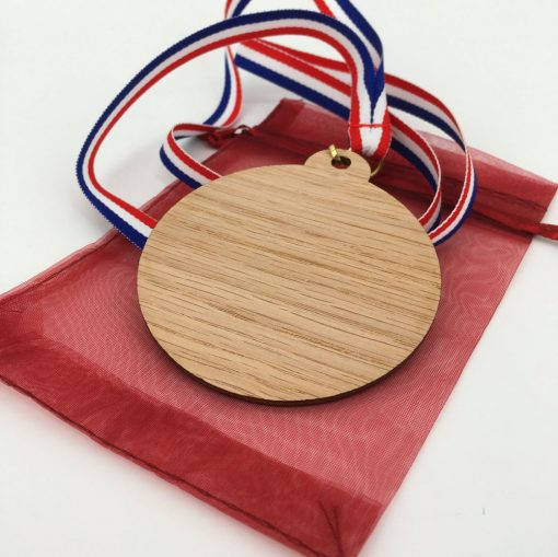 médaille bois 100% personnalisable chêne