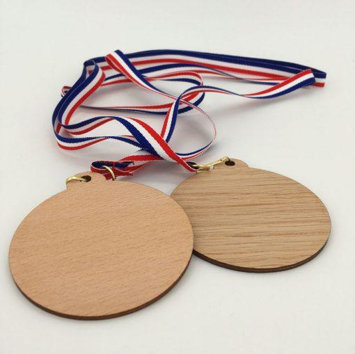médaille bois 100% personnalisable ensemble