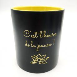 mug céramique noir jaune