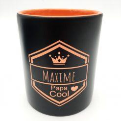 mug céramique noir orange
