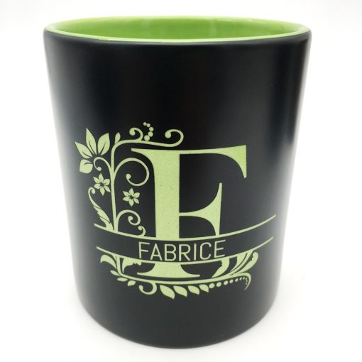 mug céramique noir vert