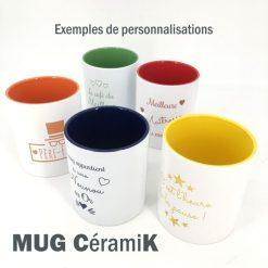 mug céramique exemples de personnalisation