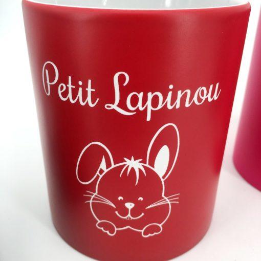mug céramique rouge blanc