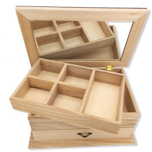 coffret bijoux bois personnalisable ouvert