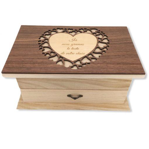 coffret bijoux bois personnalisable ensemble