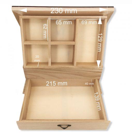 coffret bijoux bois personnalisable les dimensions
