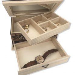 coffret bijoux bois personnalisable vue d'ensemble