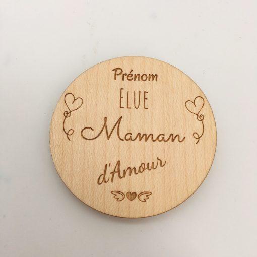 magnet bois élus maman d'amour érable